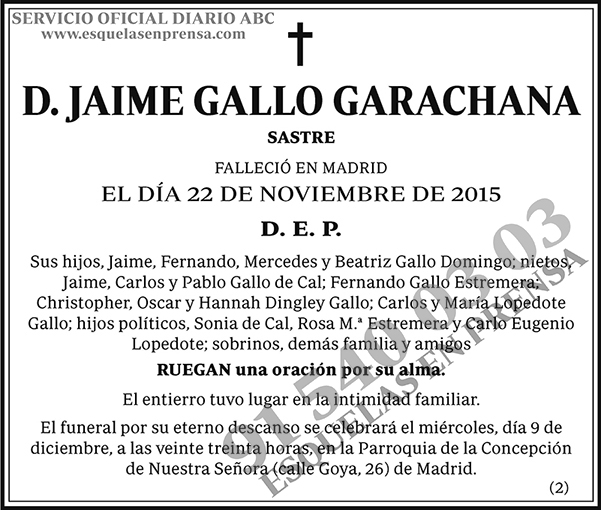 Jaime Gallo Garachana